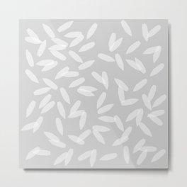 Falling Petals (grey) Metal Print