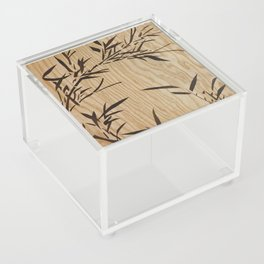 Japanese bamboo buddha wood art Acrylic Box
