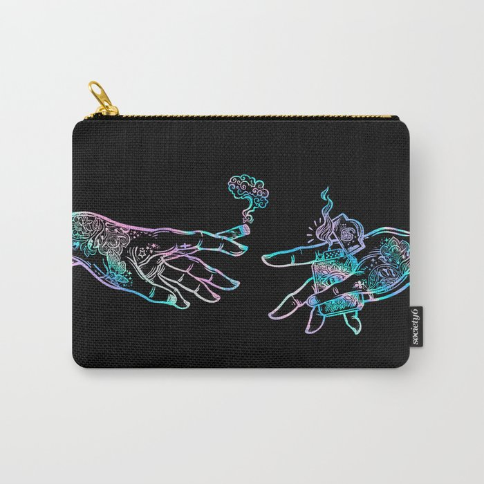 the Creation of Cannabis- holographic Tasche
