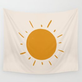 painted sun Wall Tapestry