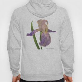 Purple Iris: Iris Germanica Hoody