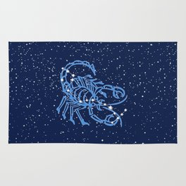 Scorpio Constellation and Zodiac Sign with Stars Rug