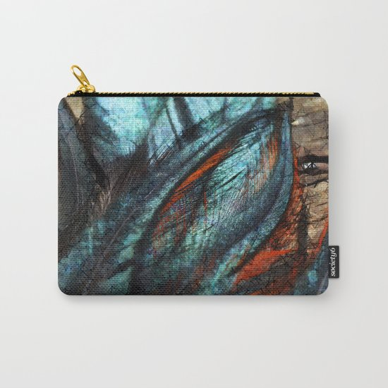 Fanciful Feathers Carry-All Pouch