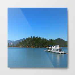 Houseboats On Lake Shasta Metal Print