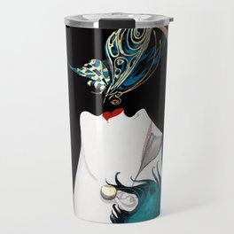 Butterfly Kiss Art Deco Remix Travel Mug