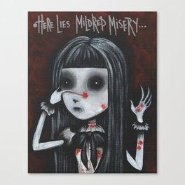 Mildred Misery - Spleen Sister by Macabre Canvas Print