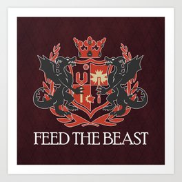 Dragon Crest Art Print