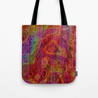 bands Tote Bags featuring Bands II by RingWaveArt
