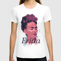 art history T-shirts featuring Frida Kahlo - History of Art by RJ Artworks
