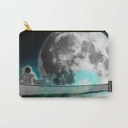 Sailing astronaut loves the moon - Valentines Gift Carry-All Pouch