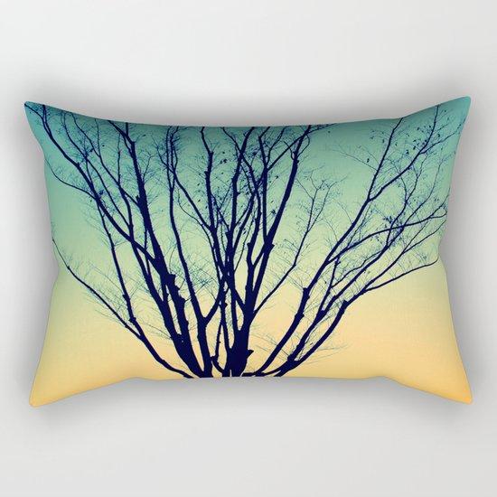 Winter Sunset Tree Rectangular Pillow