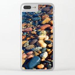 Lake Superior Rocks Clear iPhone Case