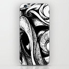 Swirl (black and white) iPhone Skin