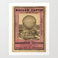 ballon Art Prints featuring Ballon Captif by DAChiemsee
