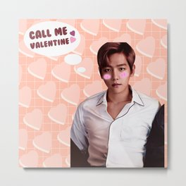 Call Me Valentine - Baekhyun Metal Print