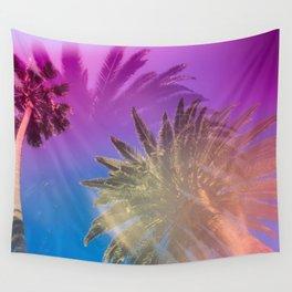 Palm Tree Skyline Wall Tapestry