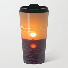 between suns and over  the oceans Metal Travel Mug