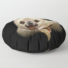 SLOTH & SOFT DRINK Floor Pillow