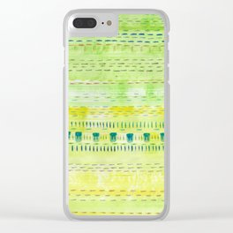 Meadow Stitch Clear iPhone Case