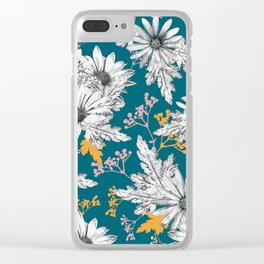 Stippled Daisies Clear iPhone Case