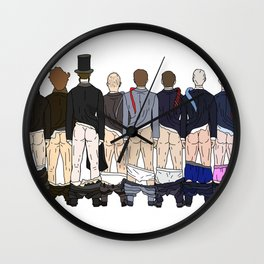 President Butts LV Wall Clock