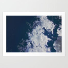 Wonky Clouds Art Print