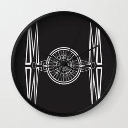 Tie Fighter Mandala Illustration print Wall Clock