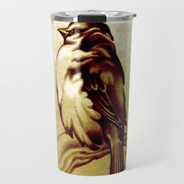 Sparrow in the Cold Travel Mug