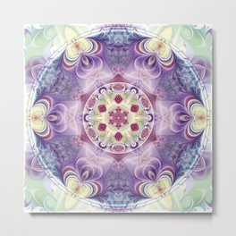 Mandalas from the Heart of Freedom 18 Metal Print