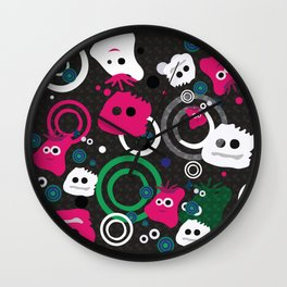 Outerspace Aliens Digital Design Wall Clock