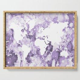 Design 109 Purple World Map Serving Tray