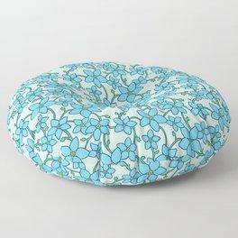 Forget-Me-Not (Light) Floor Pillow