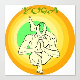 Yoga: asana Canvas Print