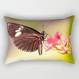 Rainbow Butterfly Rectangular Pillow