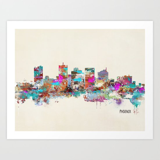Phoenix Arizona skyline Art Print