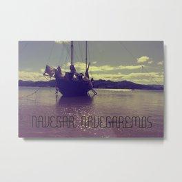 Palabras ( words ) sail , sail  Metal Print
