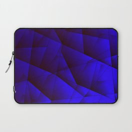 Dark contrasting blue fragments of crystals on triangles of irregular shape. Laptop Sleeve
