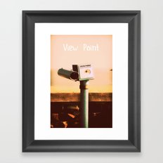 My View Point Framed Art Print