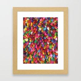 Rainbow Balloons Deflated Framed Art Print