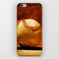 baseball iPhone & iPod Skins featuring Baseball by Michelle Sauer