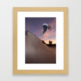 Zander Gabriel. Backside Ollie  Framed Art Print