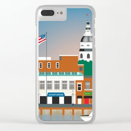Annapolis, Maryland - Skyline Illustration by Loose Petals Clear iPhone Case