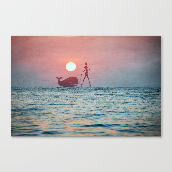 Whale Walk Canvas Print