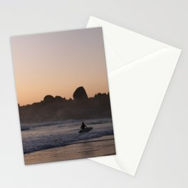 Surfers at Sunset Stationery Cards