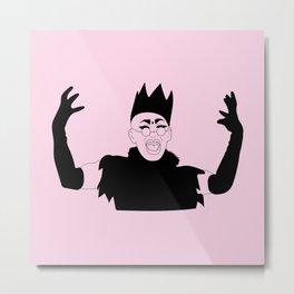 Queen Sasha Velour Metal Print
