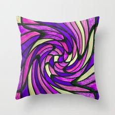 chromatic swirl II Throw Pillow
