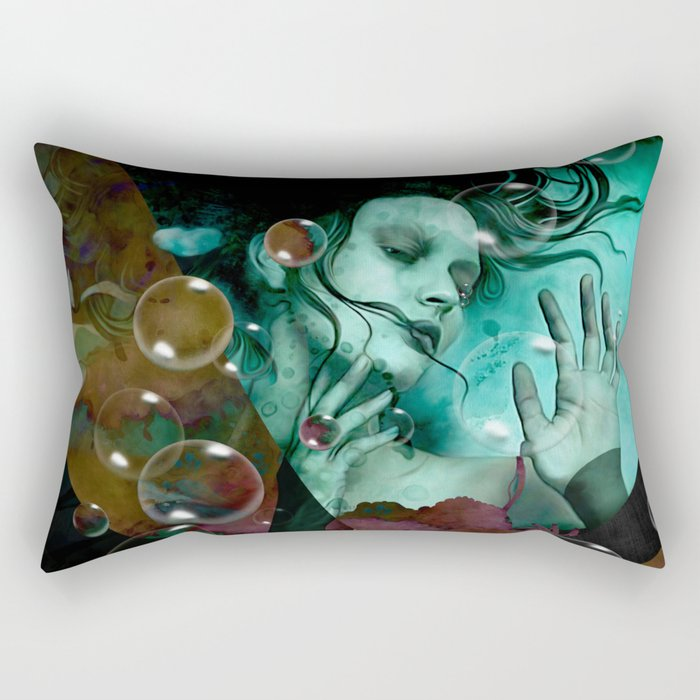 """The witch of the water forest"" Rectangular Pillow"
