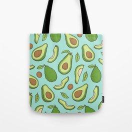 Avocado on Mint Green Tote Bag