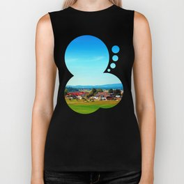 Vibrant scenery in autumn season Biker Tank