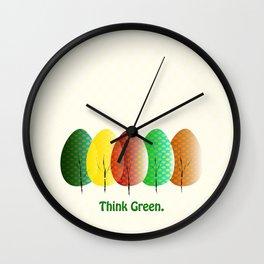 Love Nature. Love Trees Wall Clock